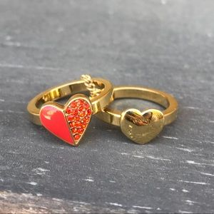 Marc by Marc Jacobs Heart Rings